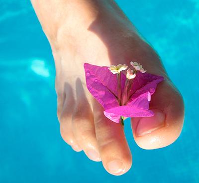 Vesipora jalkahoito